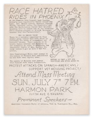 Race Hatred Rides in Phoenix. Communist Party of Arizona