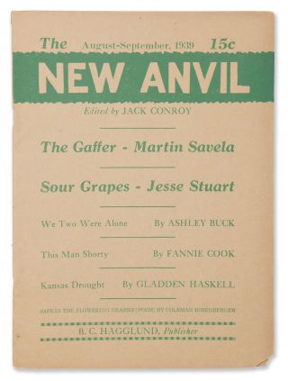 The New Anvil, Vol. 1, No. 4, August-September, 1939. Jack CONROY, Nelson ALGREN, managing ed