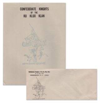Confederate Knights of the Ku Klux Klan Letterhead and Envelope