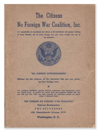 A Manual of The Citizens No Foreign War Coalition, Inc. Oscar BRUMBACK