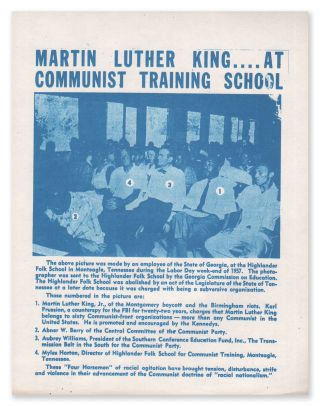 Martin Luther King...At Communist Training School