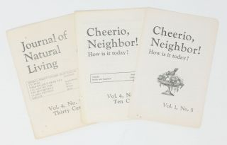 Journal of Natural Living, Vol. 4, No. 12 [with] Cheerio, Neighbor!: How Is It Today?, Vol. 1,...