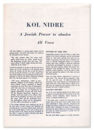 Kol Nidre: A Jewish Prayer to Absolve All Vows