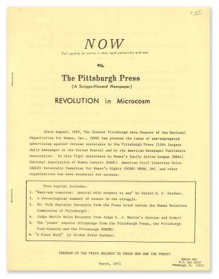NOW vs The Pittsburgh Press (A Scripps-Howard Newspaper): Revolution in Microcosm