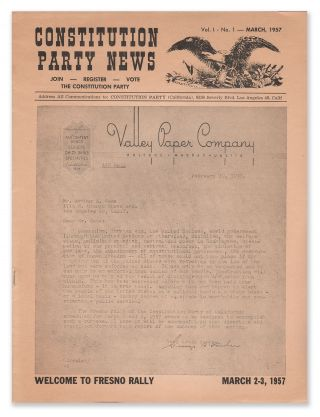 Constitution Party News, Vol. 1, No. 1, March, 1957