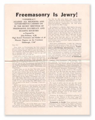 Freemasonry is Jewry!