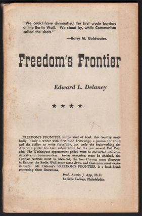 Freedom's Frontier. Edward L. DELANEY