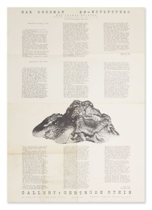 An Exhibition Poster for Sam Goodman's NO-Sculptures Art Show. Thomas HESS, Boris LURIE,...