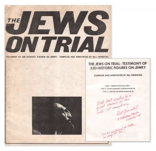 The Jews on Trial: Testimony of 330 Historic Figures on Jewry [gift inscription to noted...