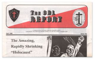 The CDL Report, Issue 105, April, 1988. James K. WARNER, Eustace MULLINS, David MCCALDEN,...