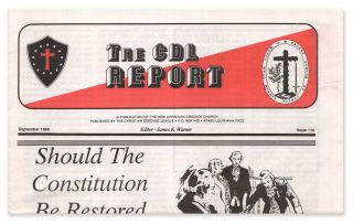 The CDL Report, Issue 110, September, 1988. James K. WARNER, Eustace MULLINS, contributor