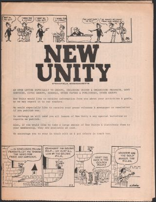 New Unity, Vol. 1, No. 1, July 26, 1971
