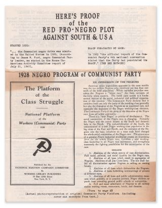 Here's Proof of the Red Pro-Negro Plot Against South & USA (Research Bulletin No. 5