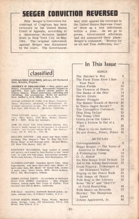 Sing Out!, Vol. 12, No. 3, June-July, 1962