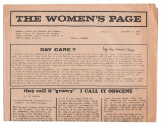 The Women's Page, No. 2, November 18, 1971. Editorial Collective