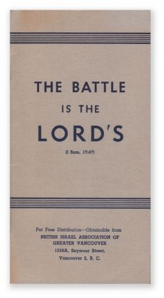The Battle Is the Lord's (I Sam. 17:47