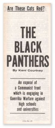 Are These Cats Red?] The Black Panthers: An exposé of a Communist front which is engaging in...