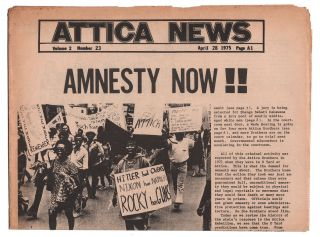 Attica News, Volume 2, Number 23, April 28, 1975. Attica Brothers Legal Defense