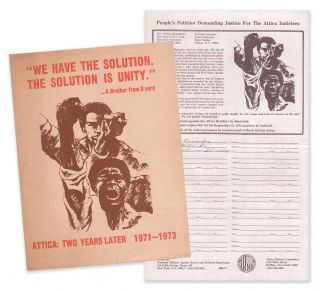 Attica: Two Years Later 1971-1973 [with] People's Petition Demanding Justice for the Attica...