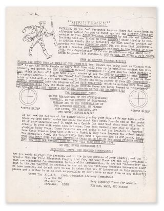 An anti-Semitic, anti-Communist flyer from the Anti-Communist Advisory Committee