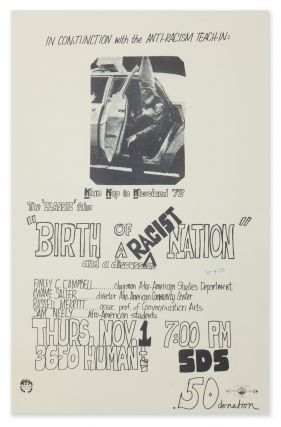 Poster for an anti-racism film screening of Birth of a Nation