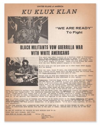 "United Klans of America | Ku Klux Klan | ""We Are Ready"" To Fight 