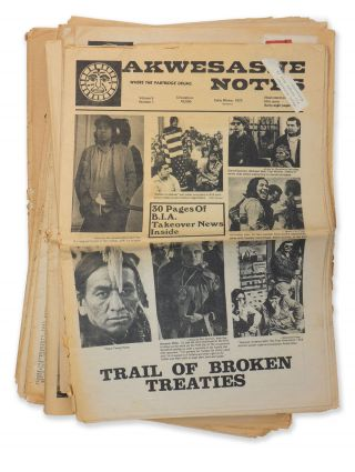 Akwesasne Notes (19 issues). Jerry GAMBILL