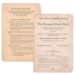 The Second Annual Meeting of The Woman's Peace Party