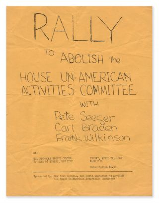 Rally to Abolish the House Un-American Activities Committee with Pete Seeger, Carl Braden, Frank...