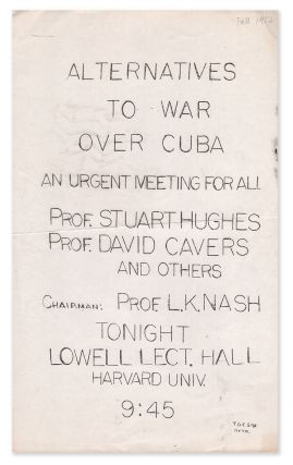 Alternatives To War Over Cuba - An Urgent Meeting For All