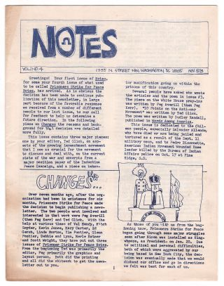 Notes, Vol. 1, No. 4, Nov. 1973. Ted GLICK