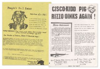Two Philadelphia Black Panther Party flyers: People's No. 1 Enemy [with] Cisco-Kidd Pig Rizzo...