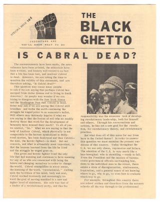 The Black Ghetto, Feb. 1973 (Special Issue
