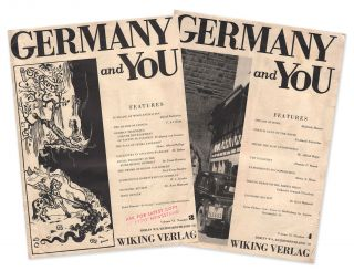 Germany and You, Vol. VI, Nos. 3-4 [two issues]. Franz Ludwig HABBEL