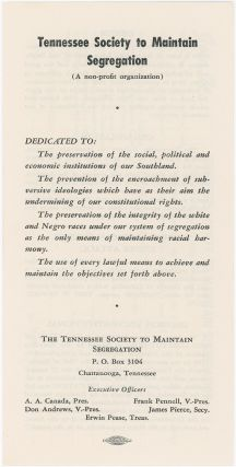 Tennessee Society to Maintain Segregation